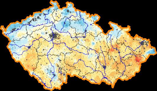 Aktuální desetidenní předpověď relativní vlhkosti půdy