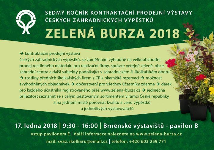 ZELENÁ BURZA 2018